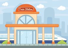 Free vector Hand-drawn train station background #3250