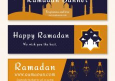Free vector Happy ramadan banners #236