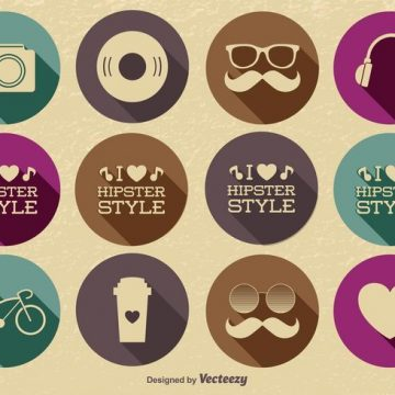 Free vector Hipster Icon Set #389