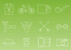 Free vector Hipster Thin Line Icon Vectors #1766