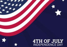 Free vector Independence day background with wavy united states flag #1771