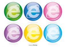 Free vector Internet Explorer Glass Icon Set #3239