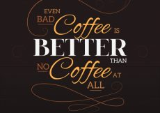 Free vector Lettering background with phrase about coffee #2699