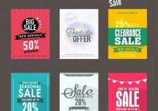 Free vector  Mega collection of Big Sale and Discount flyers, templates and banners design #526
