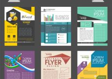 Free vector  Mega collection of corporate flyers or templates design for business reports and presentation #570