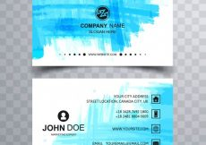 Free vector Modern watercolor business card  #2622