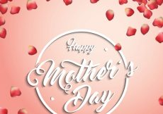 Free vector Mother's day background with petals #308