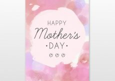 Free vector Mother's day watercolor brochure #1526