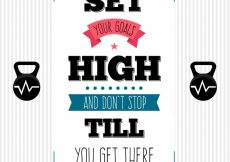 Free vector Motivational appointment to achieve your goals #156
