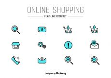 Free vector Online Shop UI Vector Icons #3404