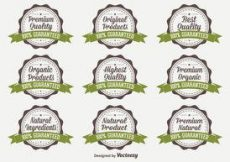 Free vector Organic Quality Vector Badges #2361