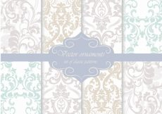 Free vector Ornamental pattern background collection #1785