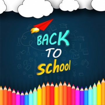 Free vector  Pencils and Chalkboard Background, Back to School Concept #1775