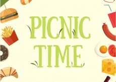 Free vector Picnic time illustrations #2317