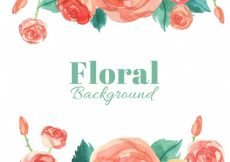 Free vector Pretty background of watercolor roses #2062