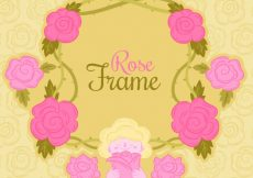 Free vector Pretty frame made of pink flowers #2032