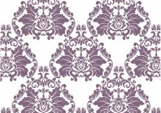 Free vector Purple and white ornamental pattern background #1867