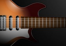 Free vector Realistic background of electric guitar #2107