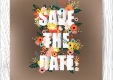 Free vector Save the date floral design background #3328