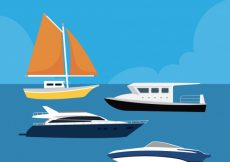 Free vector Selection of flat boats with variety of designs #1342