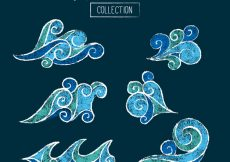 Free vector Set of abstract waves #846