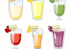 Free vector Set of delicious juices #2227