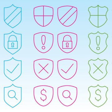 Free vector Shield Icons For Web #1810