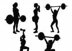 Free vector Silhouettes of people with weights #202