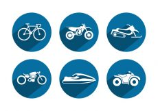 Free vector Sport Vehicle Vector Icons #1992