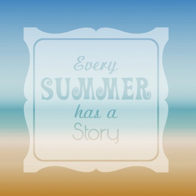 Free vector Summer themed background with typography #2900