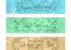 Free vector Triple mother's day banner #1536