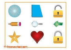 Free vector 3D Icons Set #1079