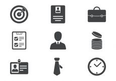 Free vector Business Icon Set #233