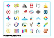Free vector Colorful Logo Icons Set #1806
