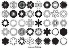 Free vector Vector Flower Shapes #2093