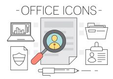 Free vector Free Office Icons #1263