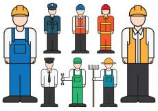 Free vector Male Professions Icons #939
