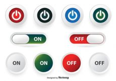 Free vector Off and On Button Set #1718