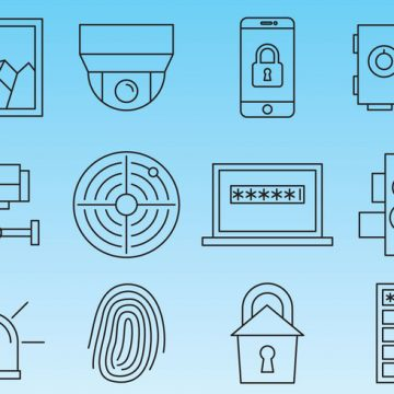 Free vector Security Line Icons #1129