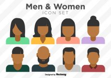 Free vector Vector Set Of Colorful Person Icons #3407