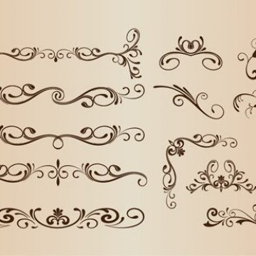 Free vector Vector Set of Decorative Elements #3514
