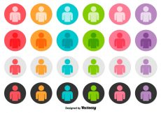 Free vector Vector Set Of Person Icon Buttons #2545