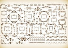 Free vector Vector Set of Vintage Frames and Dividers #2865