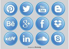 Free vector Social Media Button Icons #281