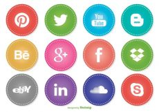 Free vector Social Media Icon Set #3070