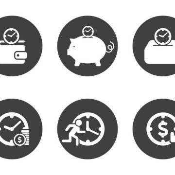 Free vector Vector Time is Money Icon Set #1571