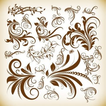 Free vector Vintage Decoration Design Elements Vector Illustration Set #2883