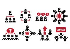 Free vector Working together icons #1874