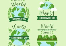 Free vector World environment day labels collection with date #866