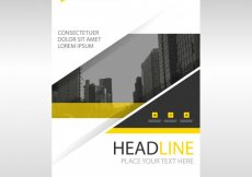 Free vector Yellow modern annual report template #3224